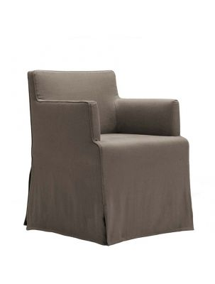 Velvet Due Chair With Armrest